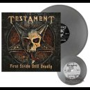 TESTAMENT- First Strike Is Deadly LIM. 300 SILVER VINYL...