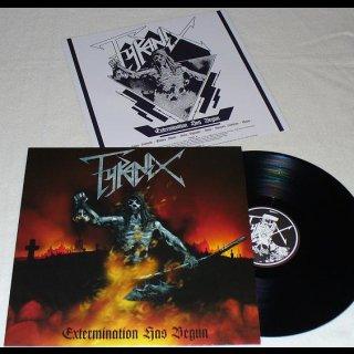 TYRANEX- Extermination Has Begun LIM. BLACK VINYL