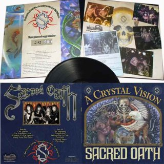 SACRED OATH- A Crystal Vision LIM. 300 BLACK VINYL