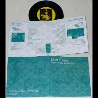 "LEATHER NUN AMERICA/DEER CREEK split 7"" single"