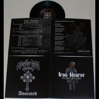"IRON HEARSE/LEATHER NUN AMERICA split 7"" single"