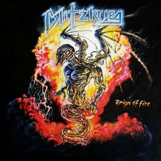 """BLITZKRIEG- Reign Of Fire LIM.7"""" SINGLE +exclusive B-Side Track NWoBHM"""
