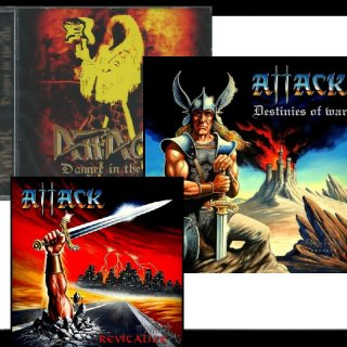 ATTACK 3 CD Package DANGER IN THE AIR/DESTINIES OF WAR/REVITALIZE