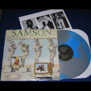 SAMSON- Shock Tactics LIM.350 BLUE/GREY MARBLED VINYL