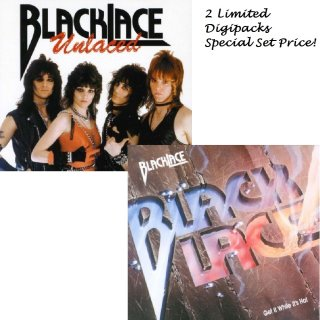 BLACKLACE- Unlaced/Get It While It´s Hot 2CD Set LIM. DIGIPACKS