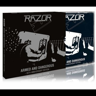 RAZOR- Armed And Dangerous LIM. 35th Ann. Edition +Bonus