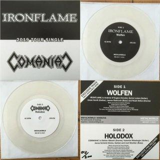"IRONFLAME/COMANIAC split 7"" single LIM.+NUMB.200 clear vinyl"