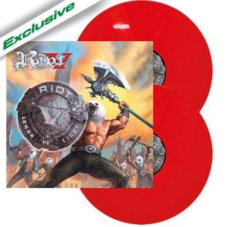 RIOT V- Armor Of Light LIM.300 RED VINYL 2LP set +2 bonustracks
