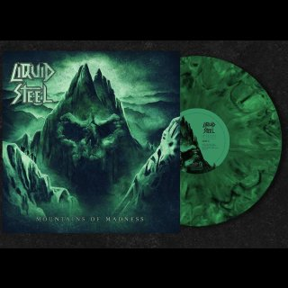 LIQUID STEEL- Mountains Of Madness LIM.200 GREEN/BLACK marbled VINYL