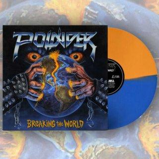 POUNDER- Breaking The World LIM. ORANGE/BLUE split color VINYL