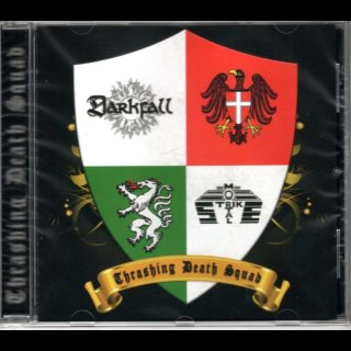 DARKFALL/MORTAL STRIKE- Thrashing Death Squad SPLIT CD